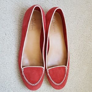 Cole Haan Size 9.5 Suede Almond Toe Flats